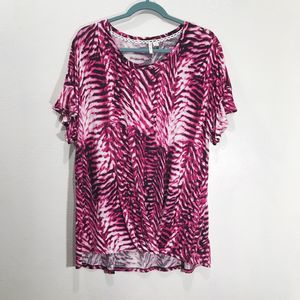 EST. 1946 Tops - Est. 1946 Animal Print Scoop Neck Knotted Tee